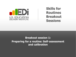 Session 1 Handout - Self-Assessment and Calibration