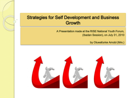 Strategies for Self Development and Business Growth