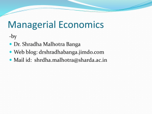- Economics by Dr. Shradha