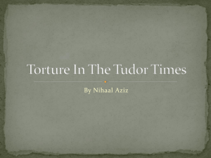 Torture In The Tudor Times