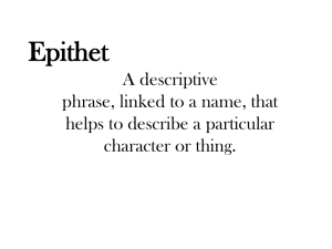 Epithets - englishrocks321