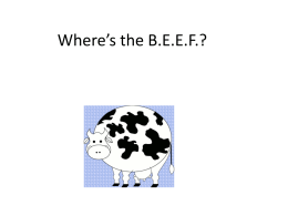 Where*s the BEEF?