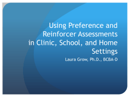Identifying reinforcers can be difficult