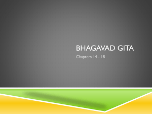 Bhagavad Gita – Chapters 14 through 18 discussion
