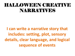 HALLOWEEN CREATIVE NARRATIVES