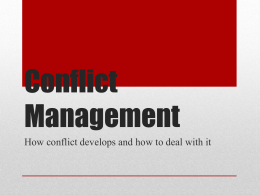 Conflict Management - Financial Literacy and Student Success
