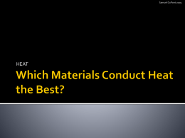 Which Materials Conduct Heat the Best?