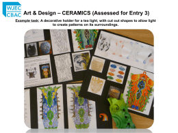 Art & Design – CERAMICS (Assessed for Entry 3)