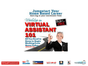 Virtual Assistant 101 - Philippine Virtual Assistant Network