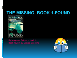 The Missing: Book 1-Found