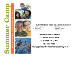 Week 1 - Chesterbrook Academy Preschool