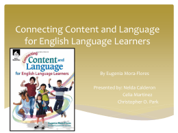 Chapter 3-Connecting Content & Language