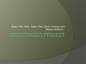 Jmessanger Project