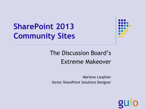 SharePoint 2013 Community Sites (HSPUG)