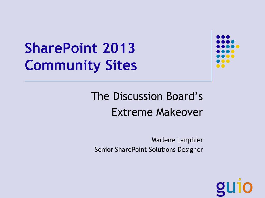 SharePoint 2013 Community Sites (HSPUG)