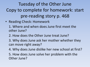 Tuesday of the Other June