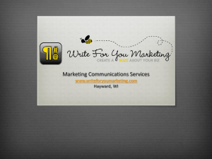 Marketing services - Write For You Marketing