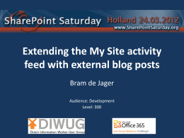 Extending the Activity Feed - Bram de Jager`s SharePoint blog