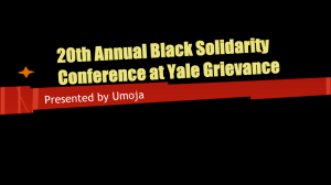 20th Annual Black Solidarity Conference at Yale