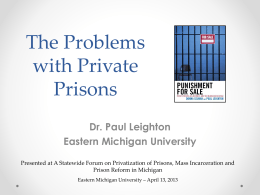 Private prison presentation