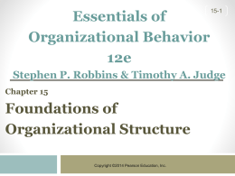 Robbins & Judge Essentials of Organizational Behavior 10e