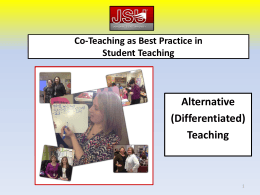 Alternative or Differentiated Teaching