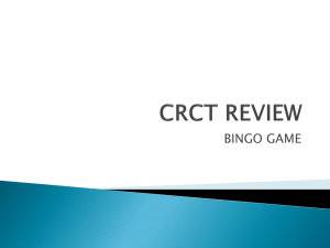 CRCT Review Bingo