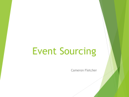 eventsourcing - cameronfletcher.com