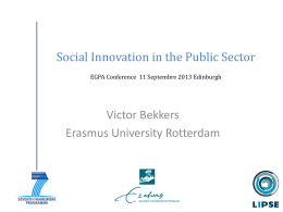 Social Innovation in the public sector Powerpoint