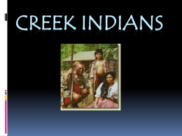 Creek Indians - SSFile