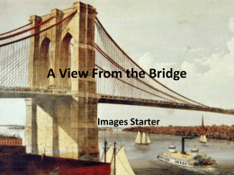 A View From the Bridge Images starter