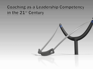 Coaching as a Leadership Competency in the 21st Century