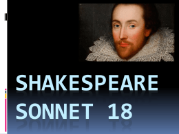 Sonnet 18 - WordPress.com