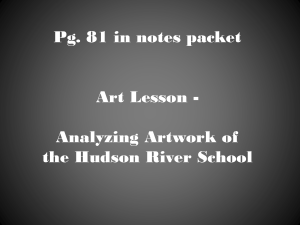 Art Lesson--Analyzing Artwork of the Hudson River School