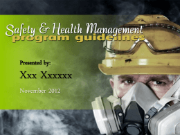 Managing Safety and Health Powerpoint
