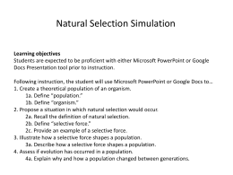 Answer key for natural selection simulation