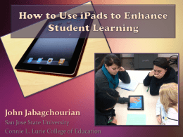 Collaborating with the iPad to Learn Content & Technology