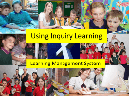 Using an Inquiry Approach with LMS