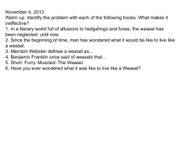 Period 2 Living Like Weasels Soc Sem Questions