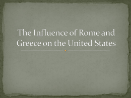 Influence of Rome Powerpoint