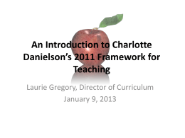 Intro to Danielson Framework