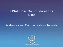 L-09 Audiences and Communication Channels