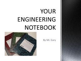 engineering notebook equipment guide rh studylib net Best Robotics Engineering Notebook Examples Engineering Design