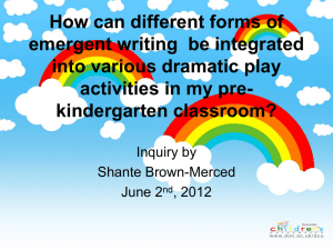 How can different forms of emergent writing be integrated into