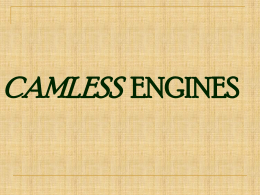 Camless Engine - Mechanical Engineering Online