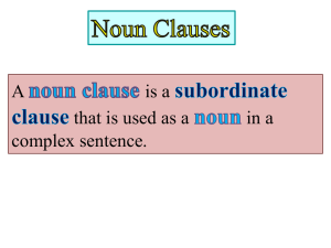 noun clause - St. Mary of Gostyn Community