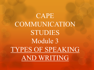 CAPE COMMUNICATION STUDIES Module 3