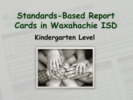 Standards-Based Report Card