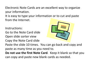Electronic Note Cards - Collier County Public Schools