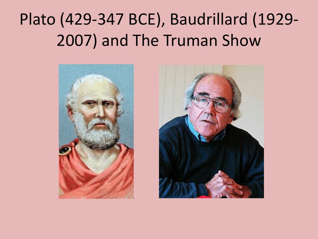 Plato And Baudrillard